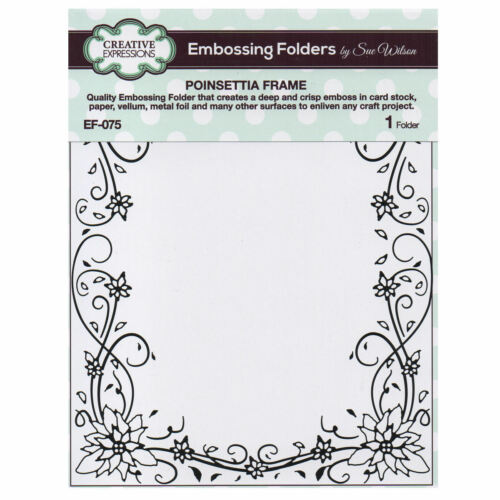 Creative Expressions Poinsettia Frame Embossing Folder EF-075