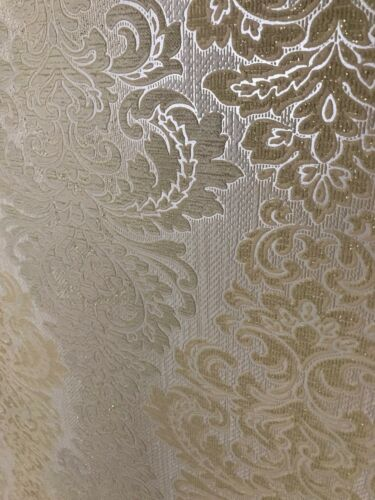 Vinyl Wallpaper wall coverings textured ivory beige vintage damask textured roll