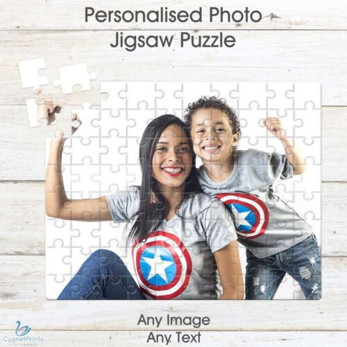 Personalised Jigsaw Photo Puzzle Custom Image Printed Picture Text Present A5 80