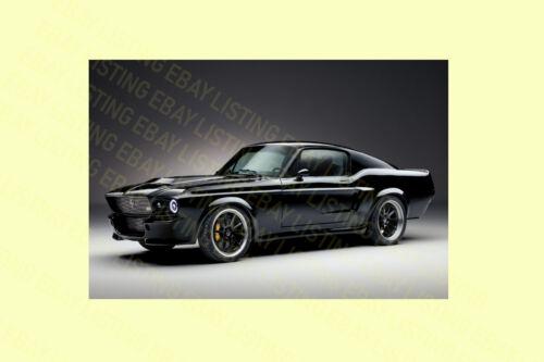 NEW FORD MUSTANG 1967 DESIGN,ORIGINAL CAR POSTER PRINT PREMIUM