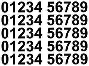 4 x   Set of Black 0-9 Numbers Self Adhesive Vinyl Stickers size 50mm