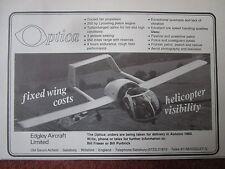 12/1982 PUB EDGLEY AIRCRAFT SALISBURY OPTICA FLUGZEUG AIRCRAFT ORIGINAL AD