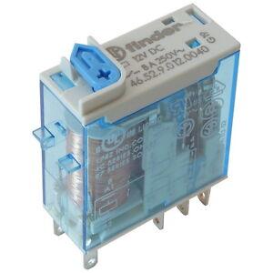 Finder 46.52.9.012.0040 Industrie-Relais 12V DC 2xUM 8A 250V AC Relay 855784
