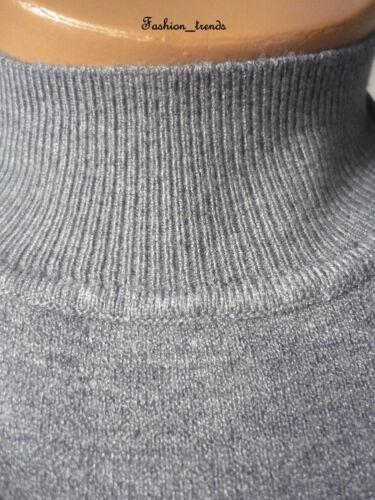 Damen Feinstrick Basic Rollkragen Rolli Pullover Strickpulli Shirt*XS-M//34 36 38