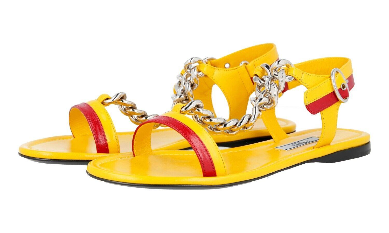 Fancy Auténtico Prada Sandalias Zapatos 1X617G Soleil nuevo nos 9.5 Reino Unido 6.5