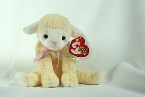 468ade209a3 Ty Beanie Baby FLEECIE 2000 Lamb w  Tag ERRORS Plush Toy RARE PE NEW ...