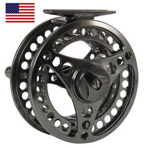 5-6WT-Fly-Reel-Gunsmoke-Aluminum-Large-Arbor-CNC-Machined-Fly-Fishing-Reel