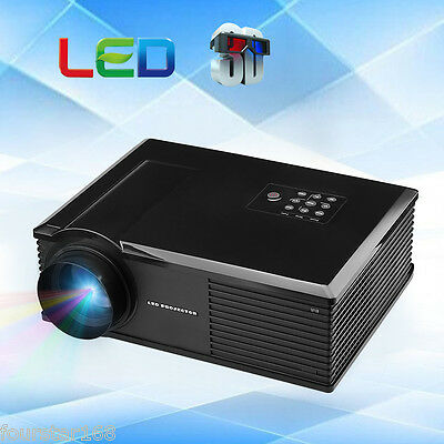 Excelvan 3200 lumens 3D Proyector LED HD Home HDMI/ATV/AV/USB/VGA 1280*800 720p
