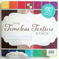 Dcwv timeless Texture Scrapbook Paper Pad - 180 Sheets