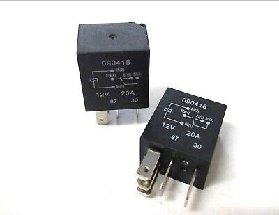 Micro Relay 5 Pin 12v 20amp Automotive Changeover Car Motorbike With Base