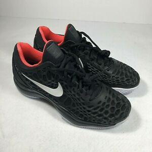 Nike-Air-Zoom-Cage-3-Clay-918192-016-Black-Crimson-Men-039-s-Shoes-9-5