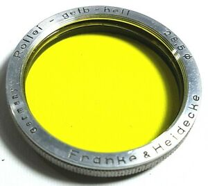 Rollei-Gelb-Hell-Bay-1-28-5-Yellow-Filter-with-Case-Vintage-UK-Fast-Post