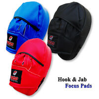 Focus Pads Boxing Rex Leather Training Hook & Jab MMA Punch Bag Mitts Curved
