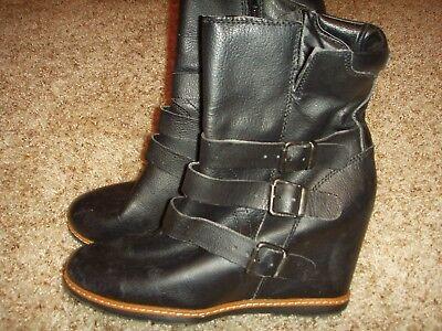 Skechers SKCH+3 48527 leather wedge