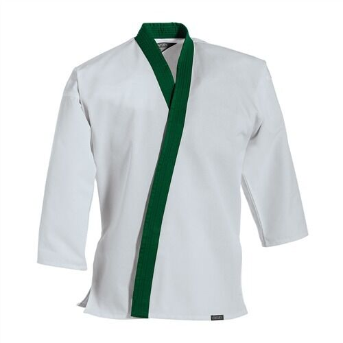 Century 7 oz Traditional Tang Soo Do Jacket Green Trim c04260