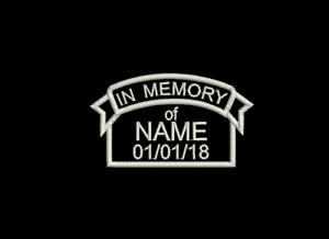 in memory of banner rip remembrance embroidered badge patch ebay
