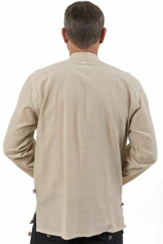 Chemise tibetaine homme ouverture laterale chanvre Neuf