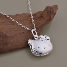 Sanrio hello kitty rhinestone locket necklace ebay usa seller sterling silver hello kitty locket pendant necklace mozeypictures Image collections