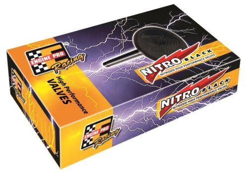 "SBC 1.6/"" Dia 4.910/"" Nitro Black Performance Exh Valves Small Block Chevy 01-3001"