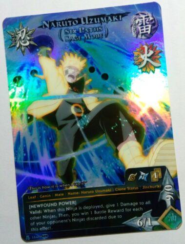 Carte Naruto Uzumaki Custom Collectible Card Game CCG Foil Fancard  #34