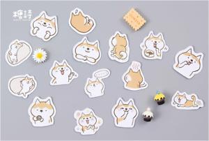Japanese Cute Shiba Inu dog animals stickers scrapbooking crafts playful mode