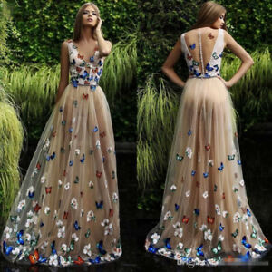Gorgeous-Butterfly-Evening-Prom-Formal-Party-Ball-Gown-Dresses-Arabic-Sleeveless
