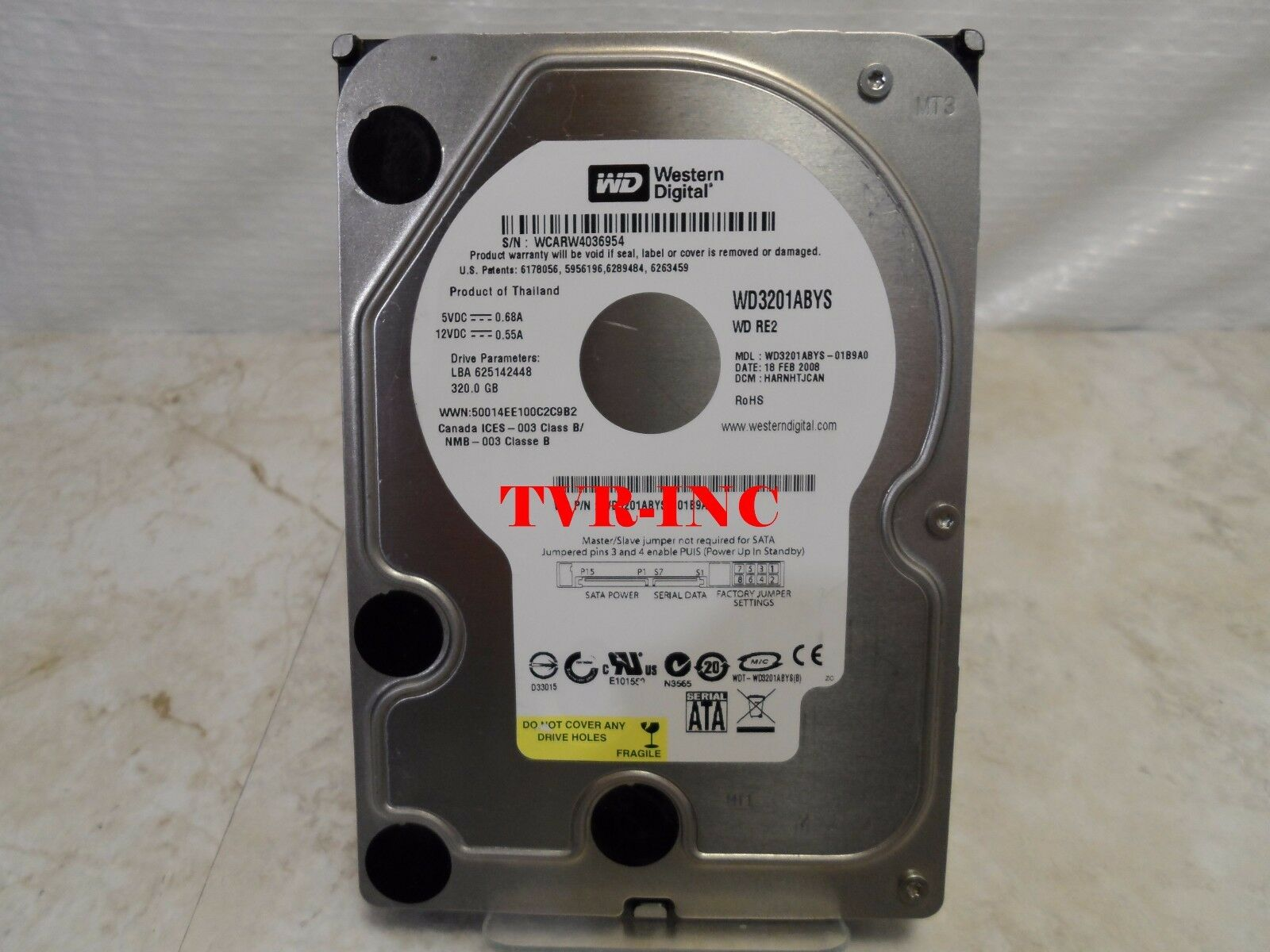 """WD7502ABYS WESTERN DIGITAL RE3 750GB 32MB 3G SATA 3.5/"""" MDL LFF HARD DRIVE"""