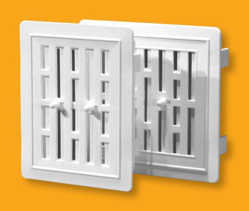 Air Vent Grille Adjustable Shutter Ducting Ventilation Cover External Internal