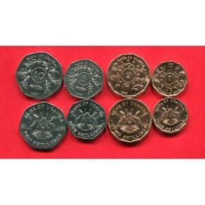 Uganda 1987 1-10 Shilling 4 Uncirculated Coin Set
