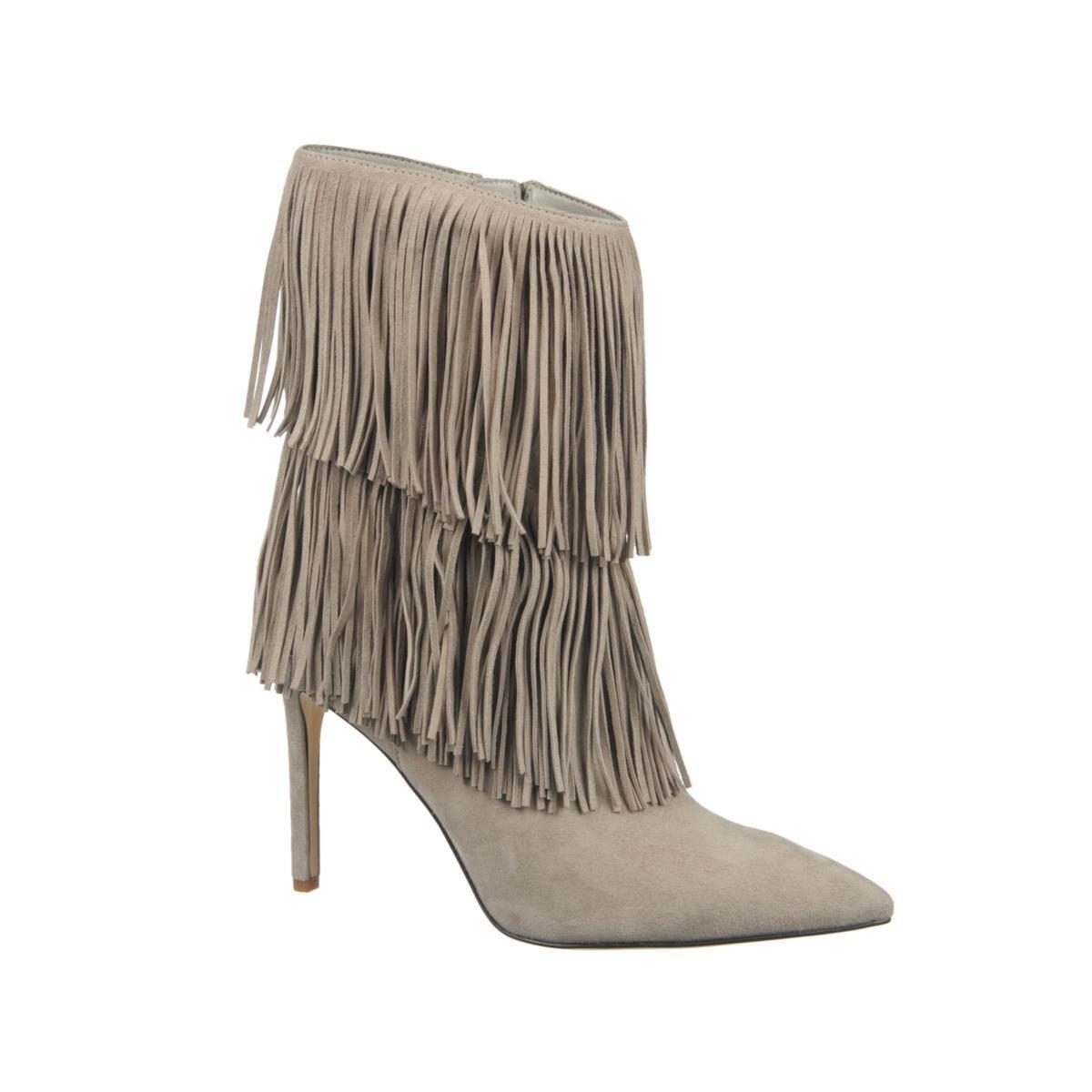 175.00 Sam Edelman  Belinda  Fringed Leather Boot 434379J CLEARANCE