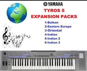 Details about Yamaha Tyros 5 Expansion Packs- First pack of 6