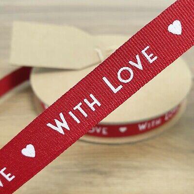 15mm All My Love Ribbon Per Metre