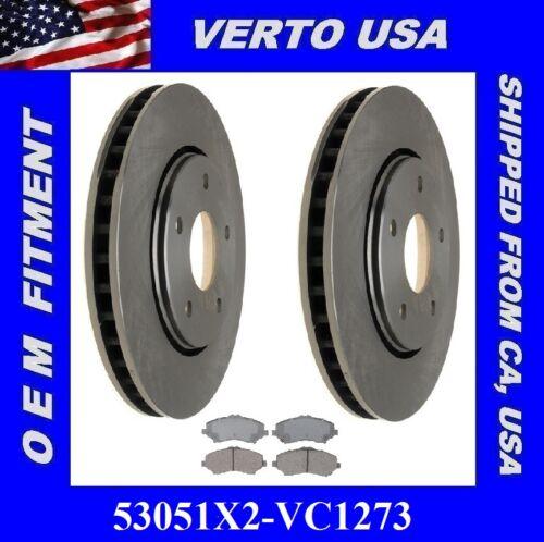 Front Brake Rotors Ceramic Pads For Dodge Journey 2009-2010-2011-2012-2013