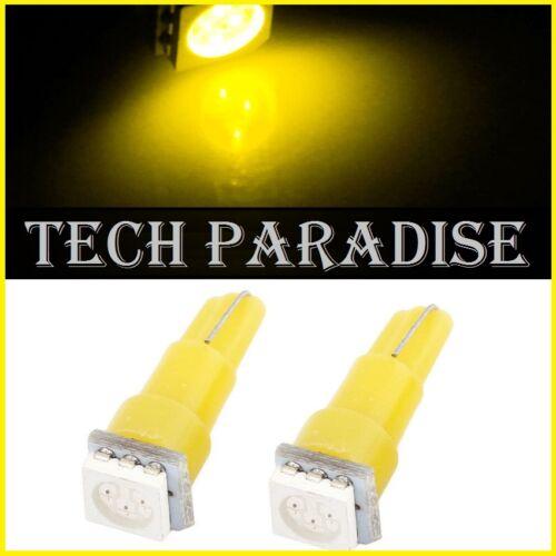 B8.3D // B8.5D 6x Ampoule T5 W1.2W W2X4.6D LED SMD Jeune Yellow Neo Wedge