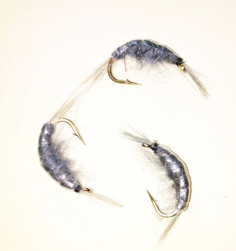 Grey Ghost Shrimp Steelhead Scud Czech Nymph Trout Fly Fishing Flies