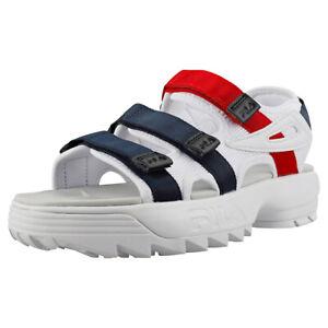 fila sandals with straps white