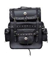 Grand Voyager SB2Black Studded Motorcycle Motorbike Luggage Sissy Bar Saddle Bag