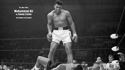 "01 Muhammad Ali Boxers 1965 Art 25""x14"" Poster"