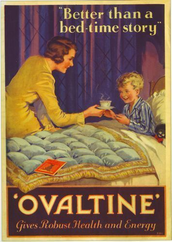 1920/'s Ovaltine Advertising Poster  A3 Reprint