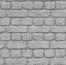 RASCH GREY BRICK EFFECT FEATURE WALL DESIGN WALLPAPER 226720
