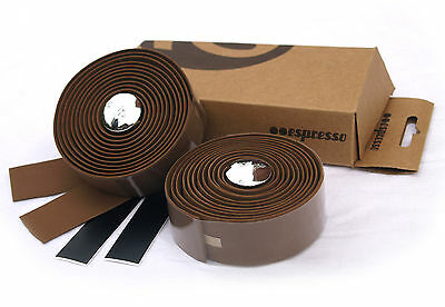 BROWN ESPRESSO FAUX LEATHER BIKE HANDLE BAR TAPE