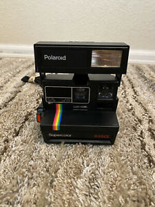 Polaroid Supercolor 635 CL Instant Film Camera Very Clean & Flash Tested Rainbow