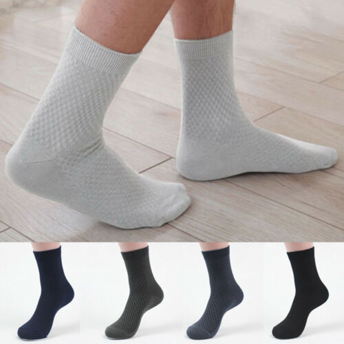Lot Men Bamboo Fiber Socks Casual Business Deodorant Breathable Winter Warm Sock