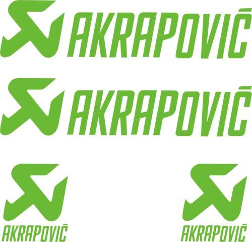 AKRAPOVIC AUTOCOLLANT PACK Moto Sponsor 4 X PEGATINAS -STICKER- VINILO