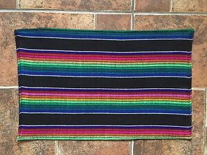Image Is Loading Serape Style Mexican Placemats Set Of 4 Handmade