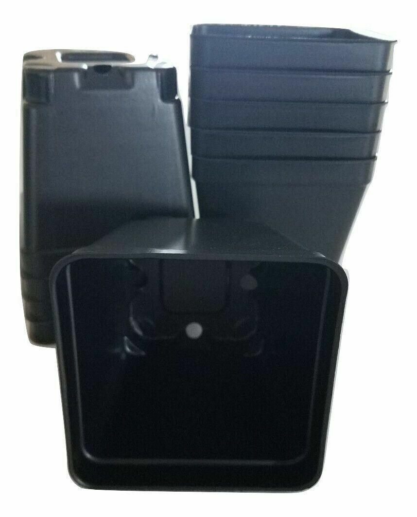 3.5 inch SQUARE BLACK NURSERY POTS - SET OF 48 - {3.5