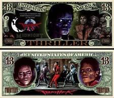 MICHAEL JACKSON. THRILLER.  Million Dollar USA . Billet de commémoration