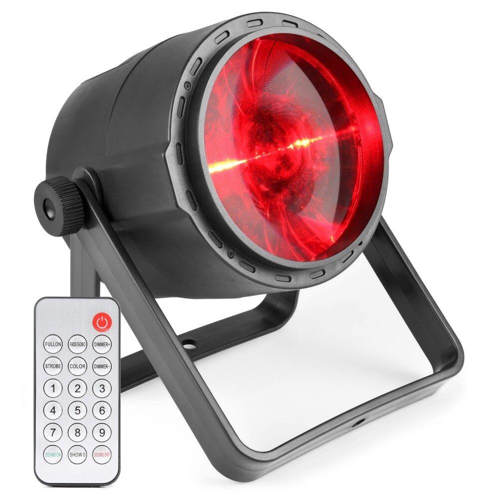PROJECTx LED 10 W 4-en-1 RGBW + DMX + BATTERIE + TELECOMMANDE
