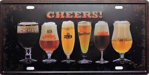 PLAQUE-metal-vintage-CHEERS-verres-a-biere
