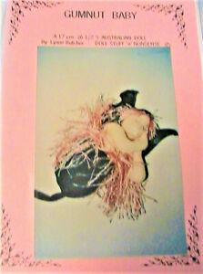 """17cm RARE 1997 cloth art doll pattern GUMNUT BABY in POD~Lynne Butcher 6-1//2/"""""""